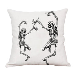 Halloween Skull Human Skeleton Throw Pillow O - BlingPainting