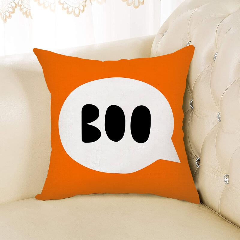 Halloween Throw Pillow with Lettering B - BlingPainting