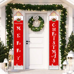 Merry Christmas Banner Decor D