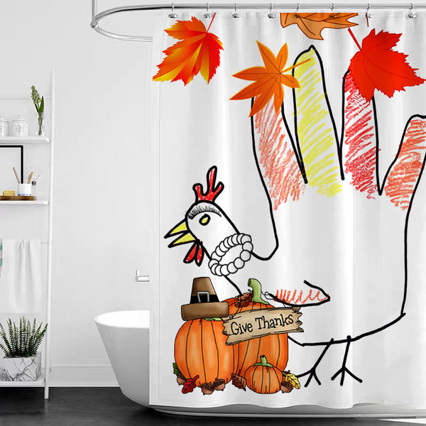 Thanksgiving Shower Curtain H - BlingPainting