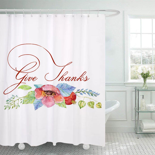 Thanksgiving Shower Curtain J - BlingPainting