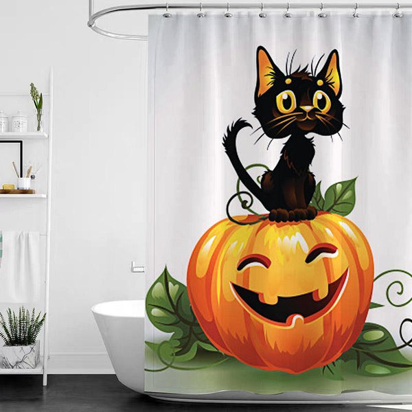 Halloween Bathroom Shower Curtains K - BlingPainting