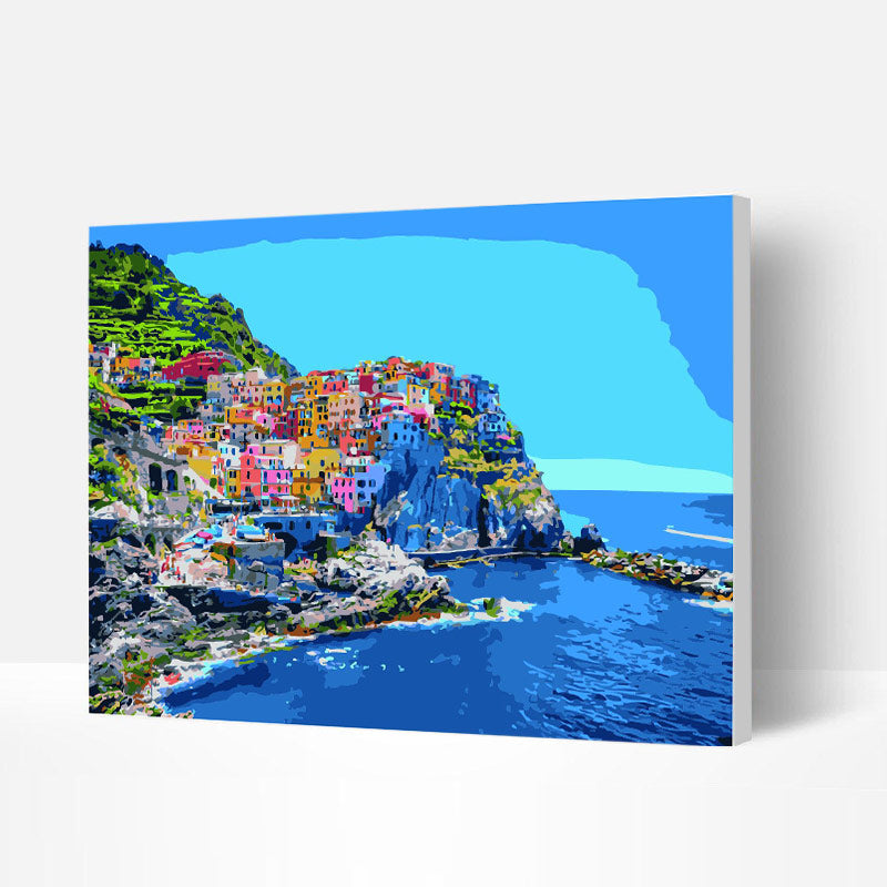 Paint by Numbers Kit - City by the Beach