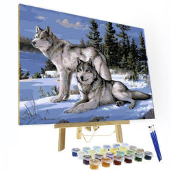 Paint by Number Kit   -- Snow Wolf - BlingPainting