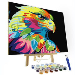Paint by Numbers Kit - Colorful Eagle - BlingPainting