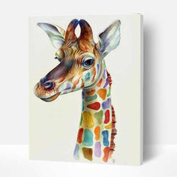 Paint by Numbers Kit - Colorful Giraffe