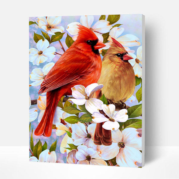 Paint by Numbers Kit -  Spring Birds - BlingPainting