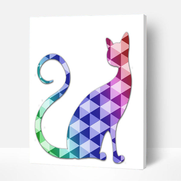 Paint by Numbers Kit for Kids -  Mirror Cat - BlingPainting