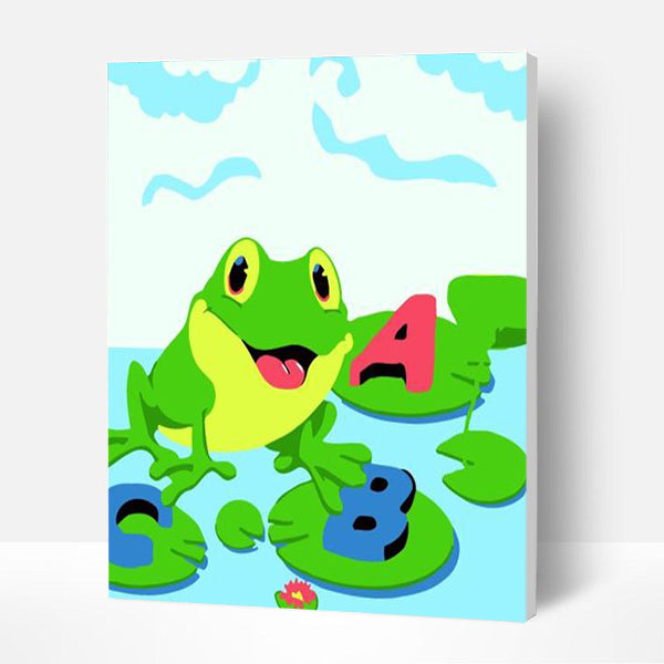 Paint by Numbers Kit for Kids- Alphabet Frog