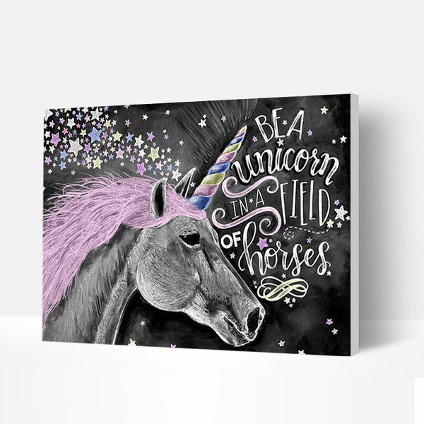 Paint by Numbers Kit - Colorful Unicorn