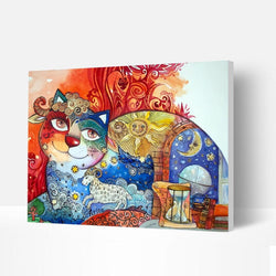 Paint by Numbers Kit - Fantasy Smiling Cat - BlingPainting