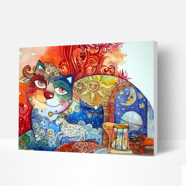 Paint by Numbers Kit - Fantasy Smiling Cat