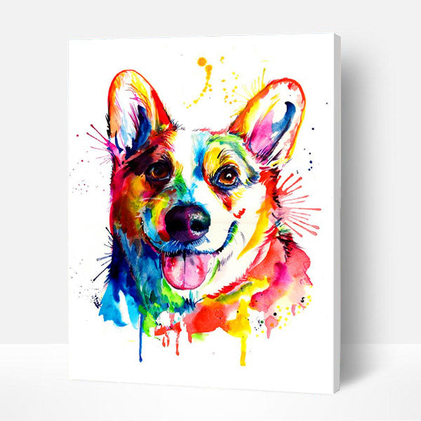 Paint by Numbers Kit - Colorful Corgi
