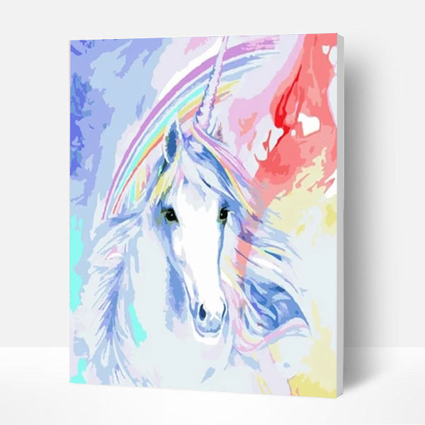 Paint by Numbers Kit for Kids-  Rainbow Unicorn - BlingPainting