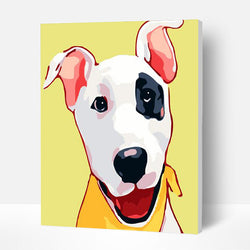 Paint by Numbers Kit for Kids- Naughty puppy - BlingPainting