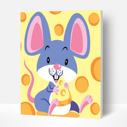 Paint by Numbers Kit for Kids - Mouse Love Cheese