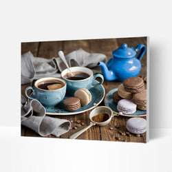 Paint by Numbers Kit -  Coffee time - BlingPainting