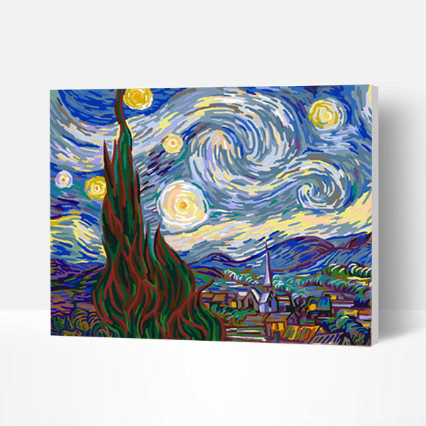 Paint by Numbers Kit - Starry Night - BlingPainting