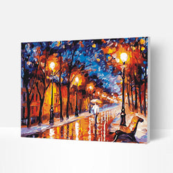 Paint by Numbers Kit -  City Streets at Night - BlingPainting
