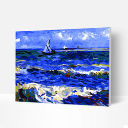 Paint by Numbers Kit -  Sant Seascape - BlingPainting