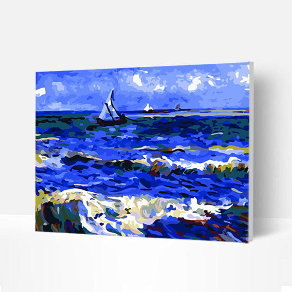 Paint by Numbers Kit -  Sant Seascape