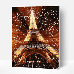 Paint by Numbers Kit -  Fantasy Eiffel Tower - BlingPainting