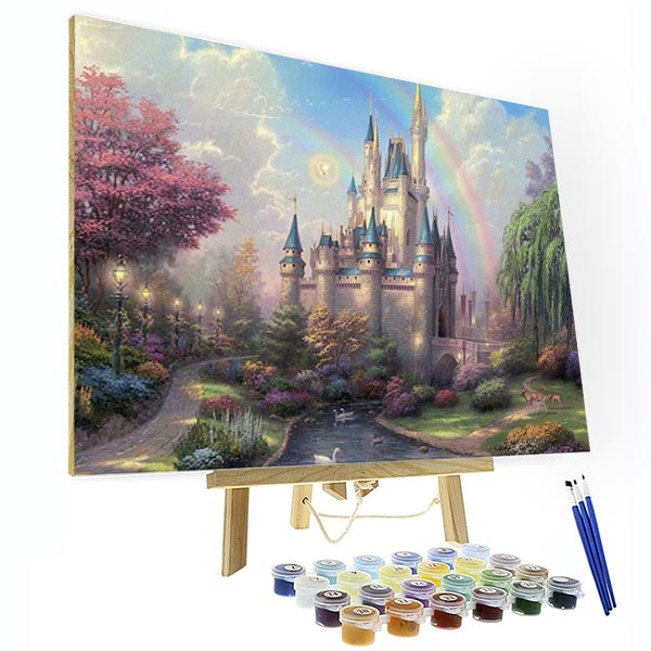 Paint by Numbers Kit -  Disneyland Park - BlingPainting