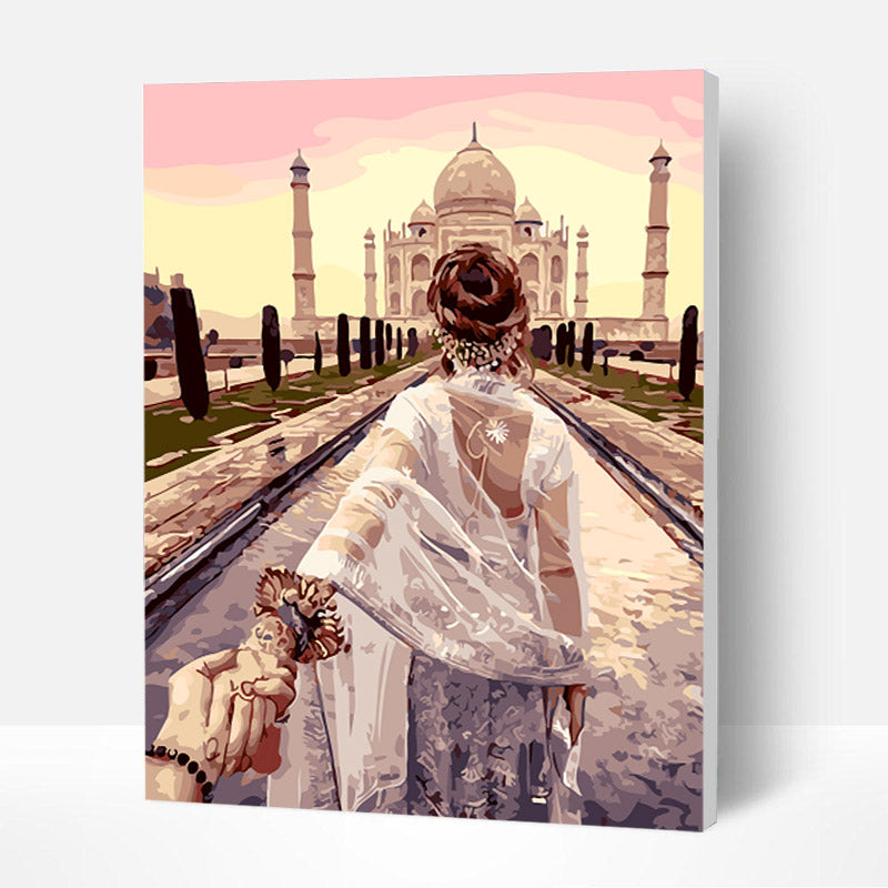 Paint by Numbers Kit - Follow me to India - BlingPainting