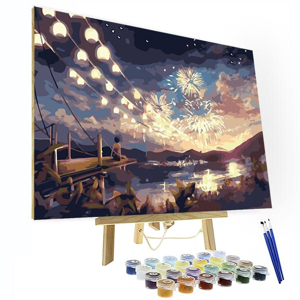 Paint by Numbers Kit -  Firework Night - BlingPainting