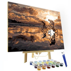 Paint by Numbers Kit - Sunset Beach - BlingPainting