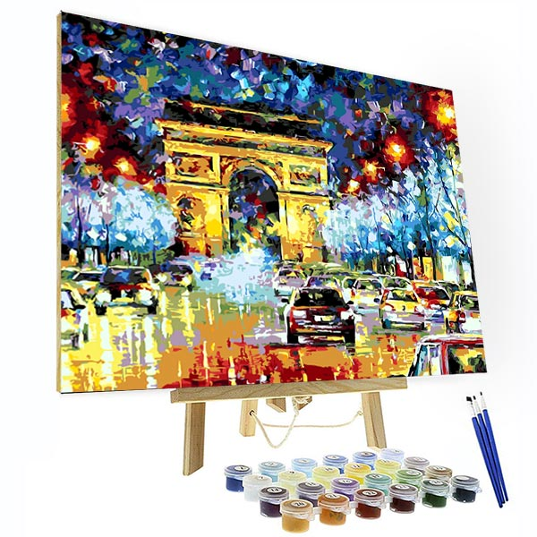 Paint by Numbers Kit - Arc de Triomphe - BlingPainting