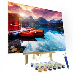 Paint by Numbers Kit - Ocean Sunset - BlingPainting