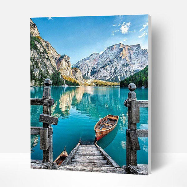 Paint by Numbers Kit -  Boat On The Lake
