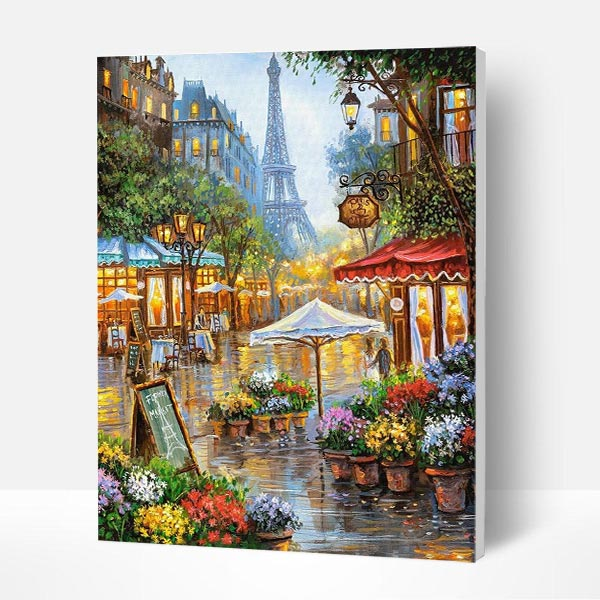 Paint by Numbers Kit -  Paris Commercial Street - BlingPainting