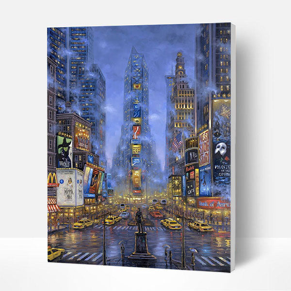 Paint by Numbers Kit -  Abstract Night City - BlingPainting