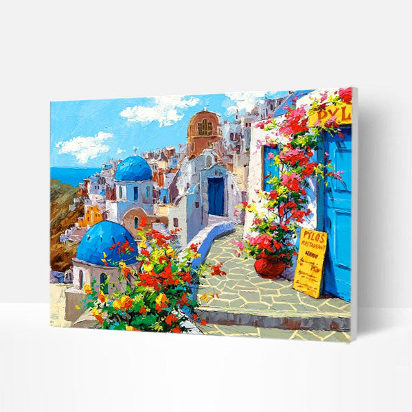 Paint by Numbers Kit - Spring in Santorini