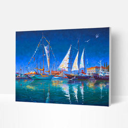 Paint by Numbers Kit -  Sea sailing