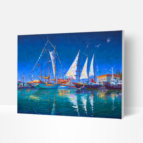 Paint by Numbers Kit -  Sea sailing - BlingPainting