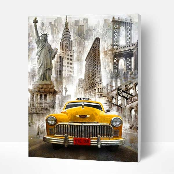 Paint by Numbers Kit - New York Taxi - BlingPainting