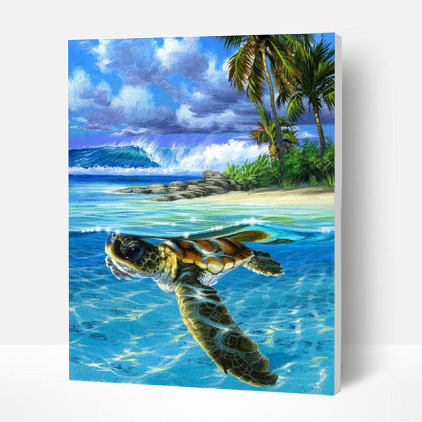 Paint by Numbers Kit -  Sea Turtle