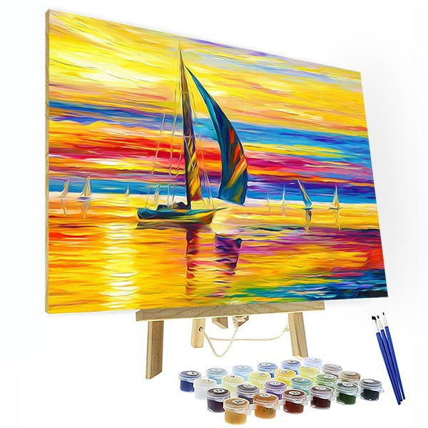 Paint by Numbers Kit - Sailing In The Sunset - BlingPainting