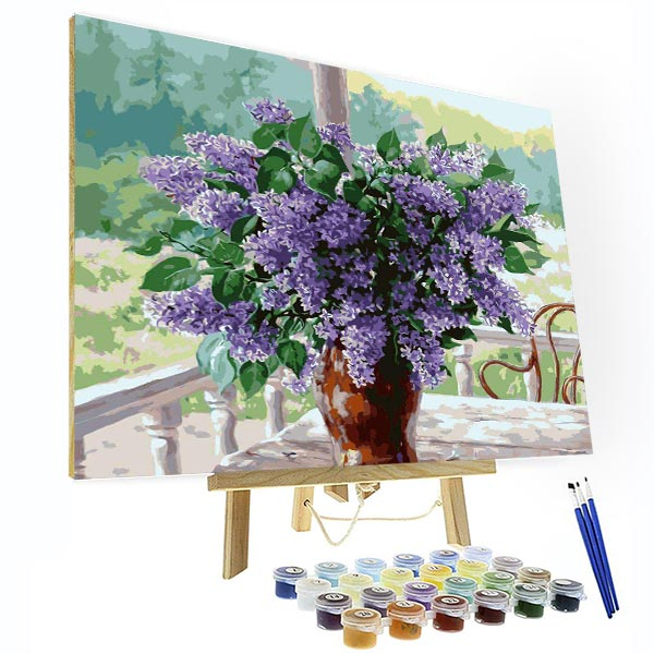 Paint by Number Kit -- Garden lavender - BlingPainting
