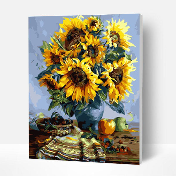 Paint by Numbers Kit -  Sunflowers on the Table - BlingPainting