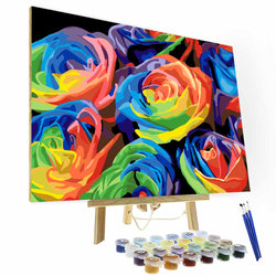 Paint by Number Kit ---  Colorful Rose