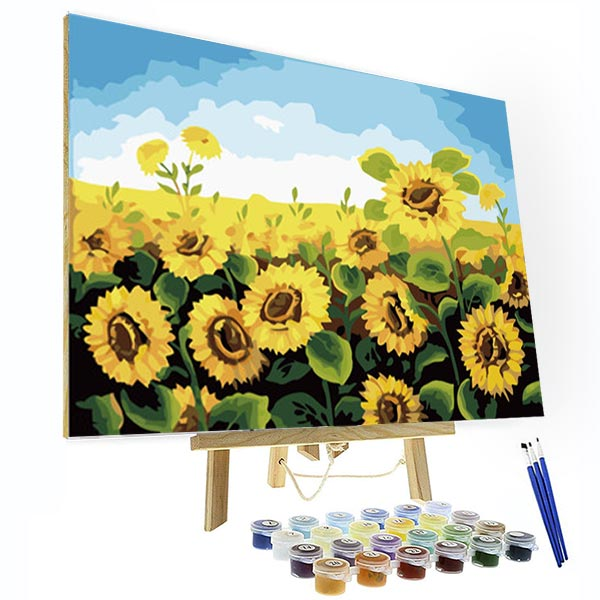 Paint by Numbers Kit - Sunflower Field - BlingPainting