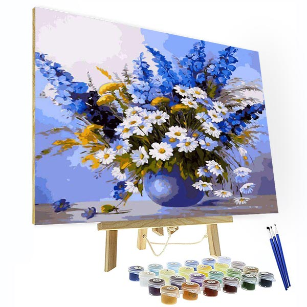 Paint by Number Kit   -- Blue theme - BlingPainting