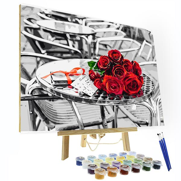 Paint by Numbers Kit - Red Roses Bouquet - BlingPainting