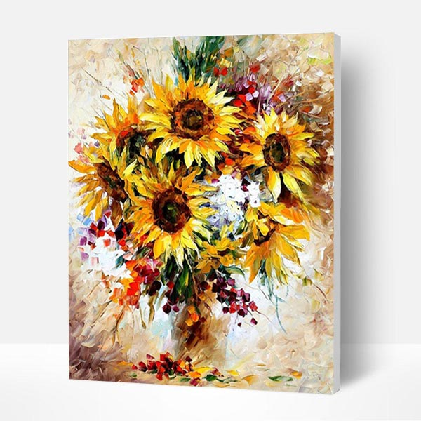 Paint by Numbers Kit - Red Sunflower