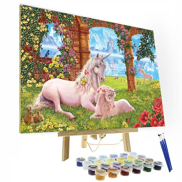 Paint by Numbers Kit - Victoriasmoon Unicorn - BlingPainting