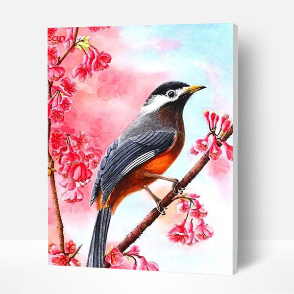 Paint by Numbers Kit - Birds on Branch - BlingPainting